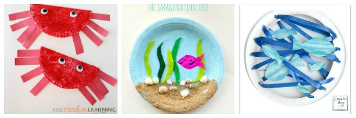 ocean paper plate crafts for kids