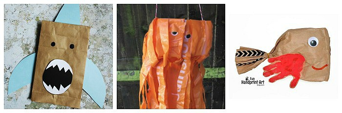 ocean crafts for kids made from bags