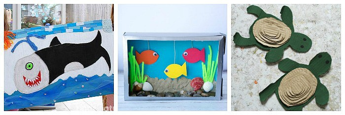 ocean crafts for kids made from cardboard