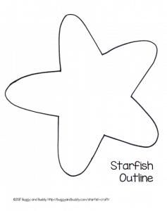 starfish printable template
