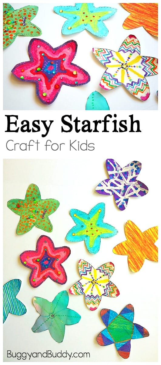 Starfish Template | Easy Starfish Craft For Kids With Free Printable Template Buggy