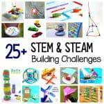 Over 25 STEM Challenges based on design, building and engineering. Child-centered STEAM activities!
