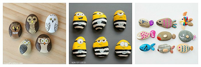 cool painted rocks for kids