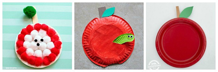 paper plate apple crafts for kids