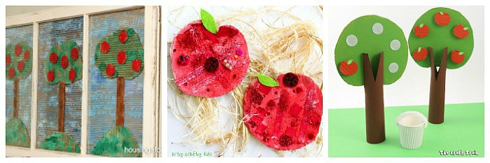 Cardboard Apple Crafts for Kids