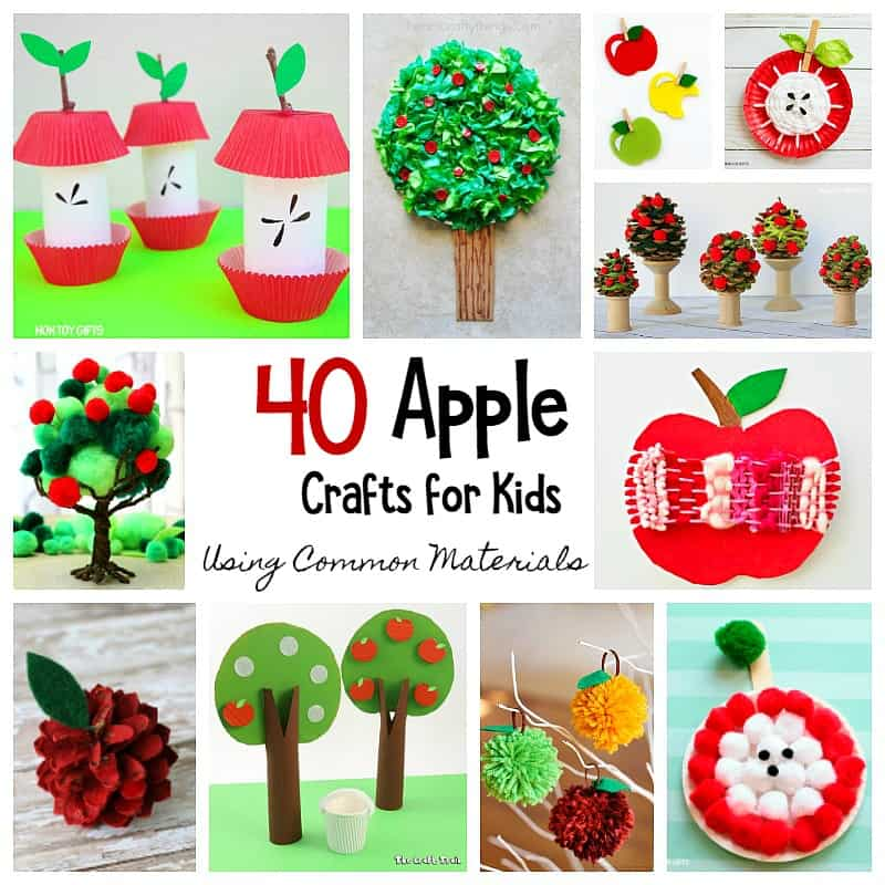 40 Apple Crafts For Kids Using Common Crafting Materials Buggy And