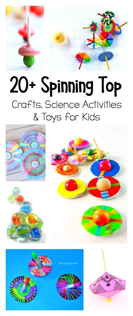 Best Science Toys For Kids : Spinning top crafts and science activities for kids