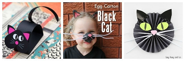 black cat crafts for kids for halloween