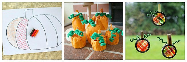 pumpkin crafts for kids for halloween and fall