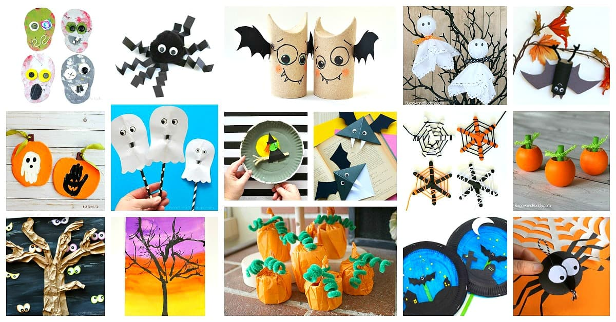 photograph regarding Free Printable Halloween Crafts named 50 Tremendous Great Halloween Crafts for Youngsters - Buggy and Close friend