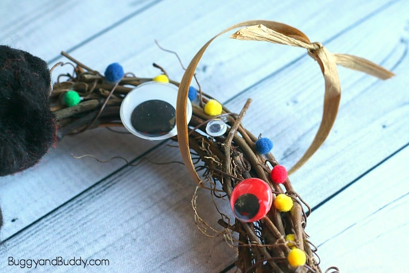 easy halloween wreath craft for kids monster