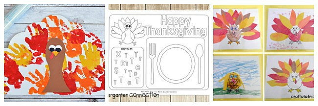 thanksgiving placemat crafts and activities for kids