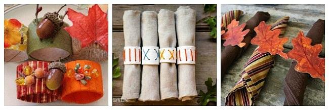Thanksgiving napkin ring crafts for kids