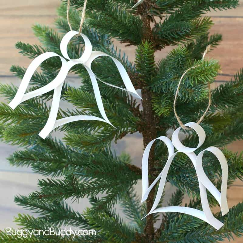 Paper Strip Angel Ornament Christmas Craft With Free Template
