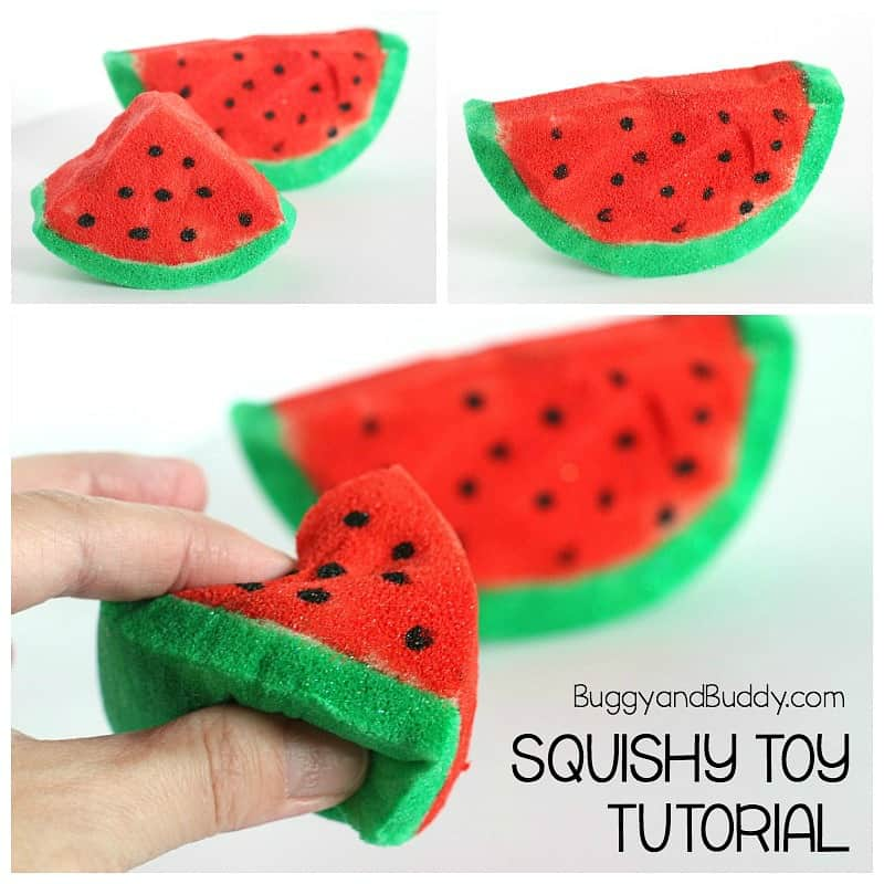 Diy Watermelon Squishy Toy Buggy And Buddy