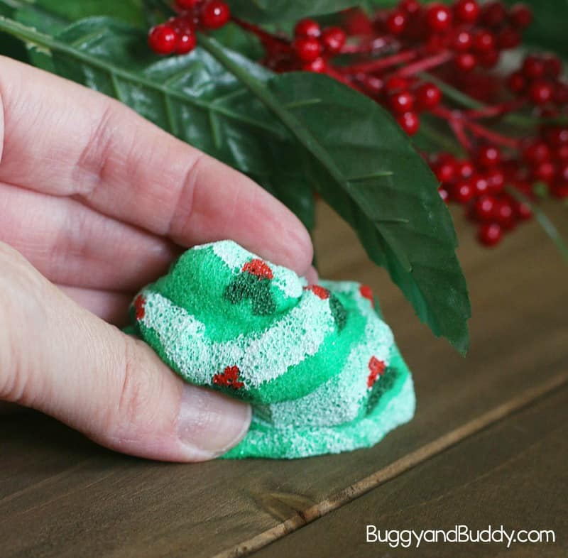 How to make Christmas tree squishy toys: Squishies tutorial- fun sensory craft for kids
