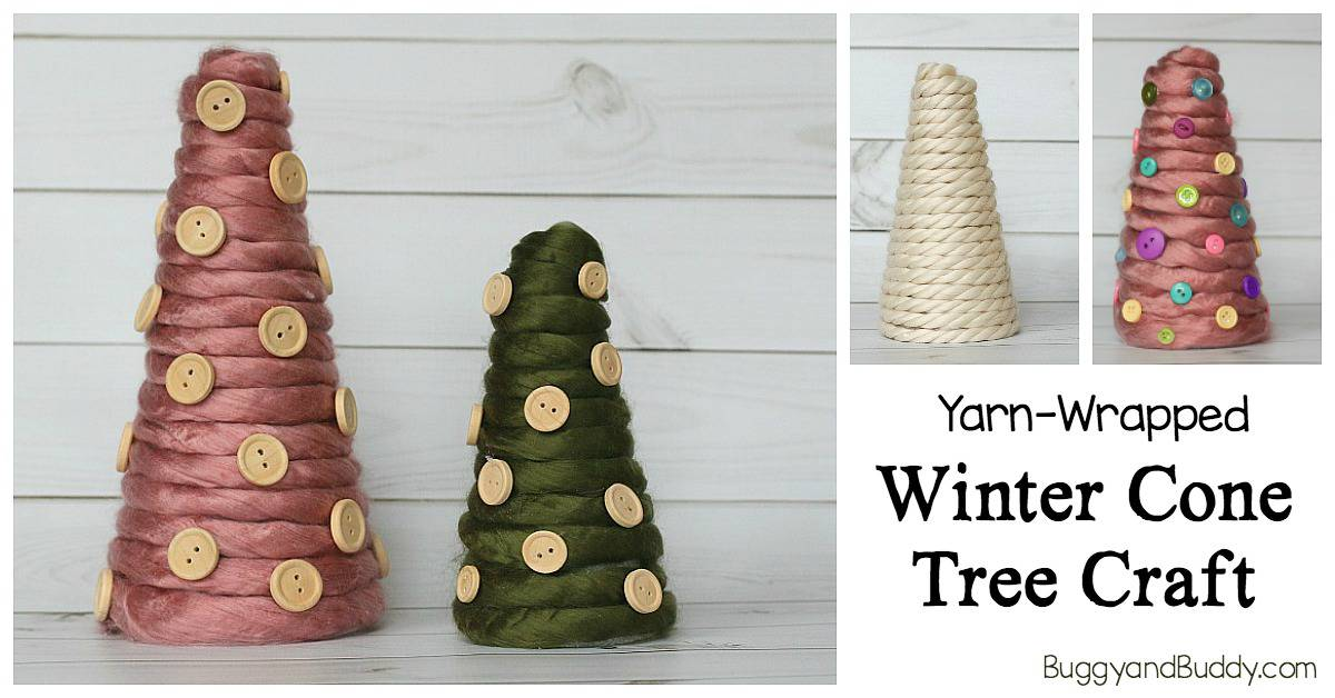 Diy Cone Christmas Trees.Yarn Wrapped Christmas Tree Craft Buggy And Buddy