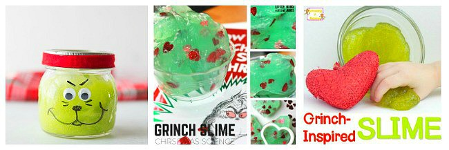 grinch slime recipes for kids for christmas