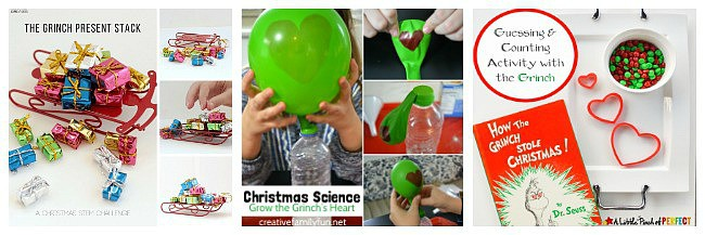grinch activities for kids including science and math