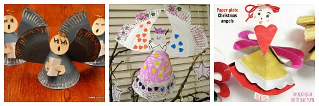 paper plate angel crafts for kids