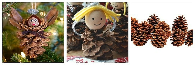 pinecone angel crafts for kids