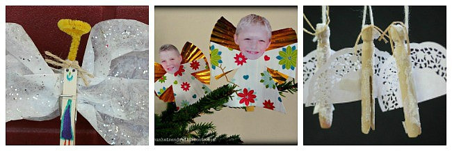 clothespin angel craft for kids