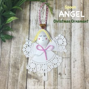 doily and spoon angel craft