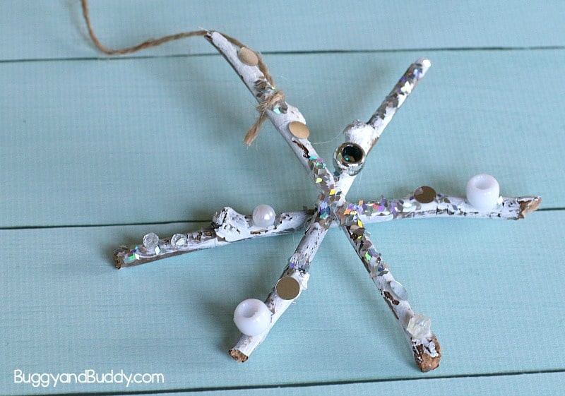 Twig Snowflake Craft for Kids: Winter Process Art for Preschool and Kindergarten using sticks!