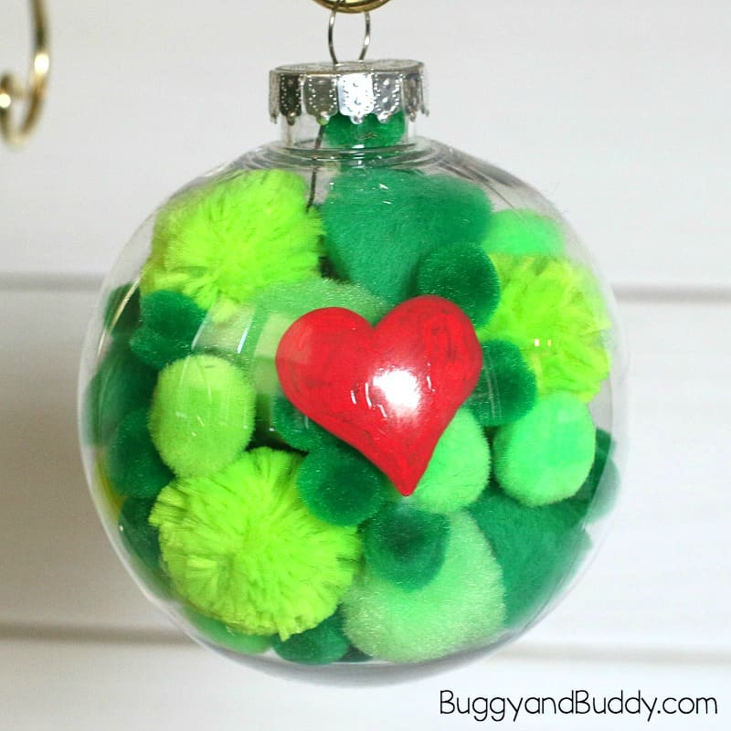How the Grinch Stole Christmas by Dr. Seuss: Homemade Grinch Ornament Craft for Kids