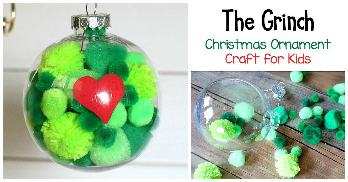 The Grinch Christmas Ornament Craft For Kids Buggy And Buddy