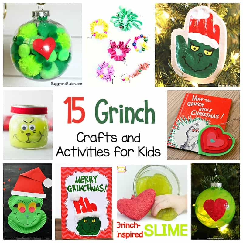 15 Grinch Crafts and Activities for Kids