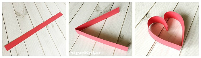 how to make a heart using a strip of paper