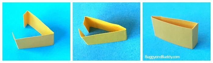 make a beak for your paper bird craft