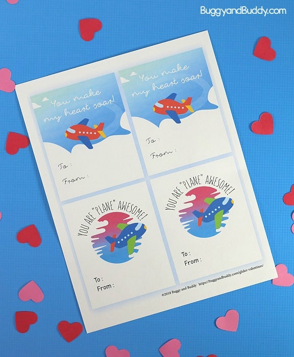 Free printable airplane valentines for valentine's day