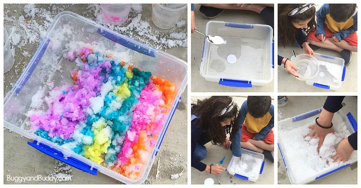 Insta Snow Winter Science Activity For Kids Buggy And Buddy