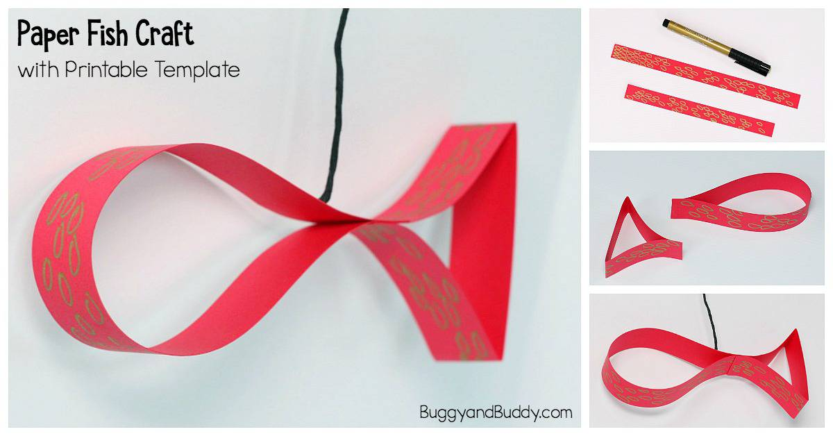 Paper Fish Craft for Kids: Perfect for Chinese New Year or an Ocean Unit with free printable template