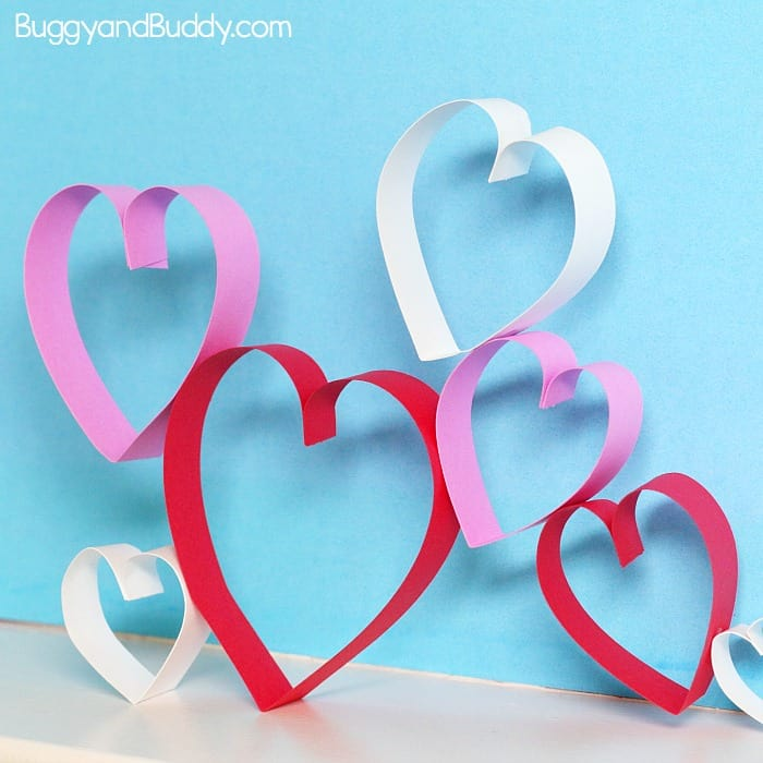 Valentine S Day Steam Building Structures With Paper Hearts Buggy