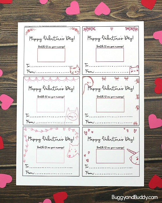 free printable scratch off valentine cards for kids