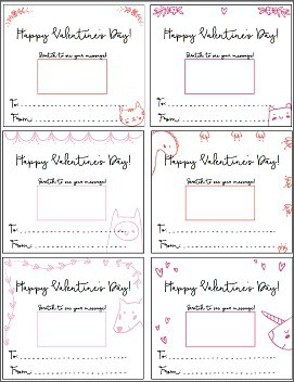 photo relating to Printable Valentines Cards for Kids titled Cost-free Printable Scratch-Off Valentine Playing cards for Valentines