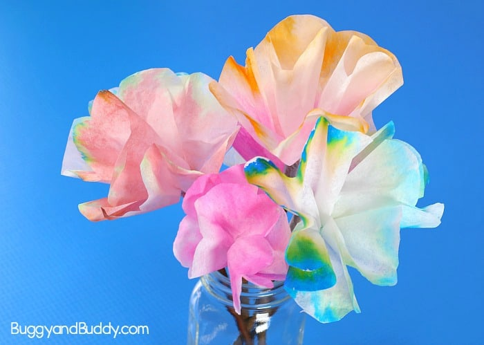Spring Science for Kids: Chromatography Flowers with Coffee Filters