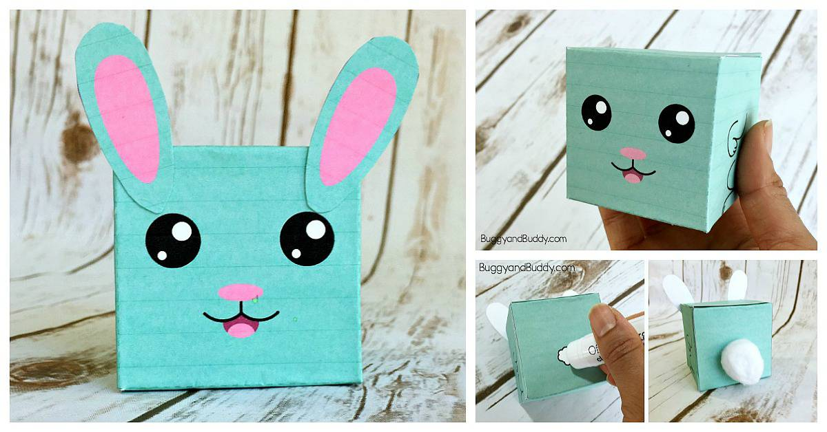 graphic about Printable Easter Craft titled Easter Craft for Little ones: Do it yourself Bunny Box with No cost Template
