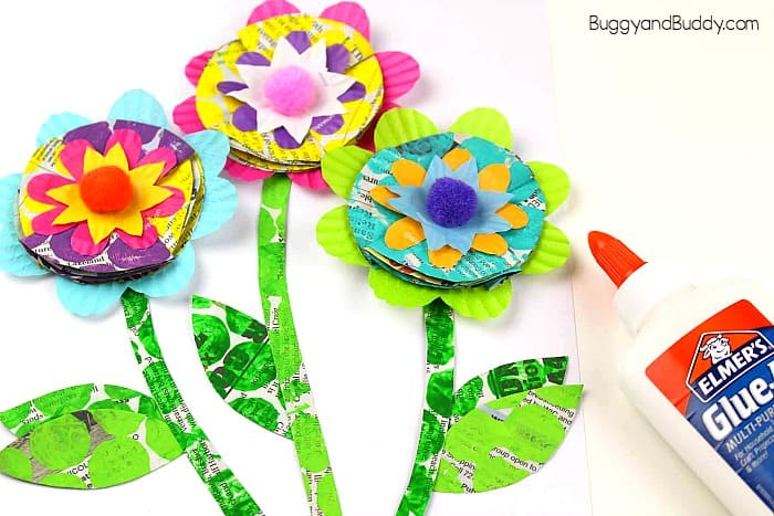 Mixed Media Flower Craft For Kids Buggy And Buddy