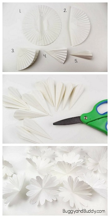 how to make a cupcake liner flower
