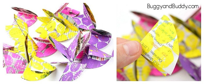 fold your newspaper flowers