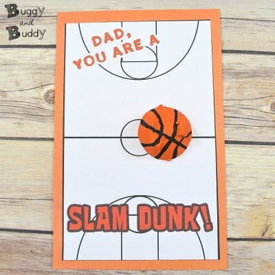 DIY Basketball Father's Day Card for Kids Using Egg Cartons