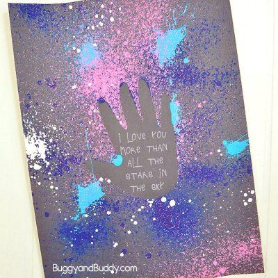 Galaxy Handprint Art for Kids