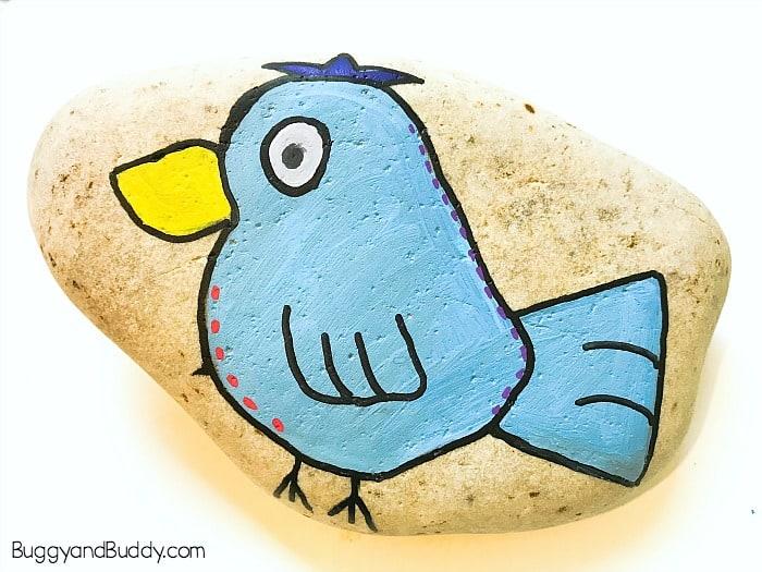 Diy Painted Bird Rock Tutorial Buggy And Buddy