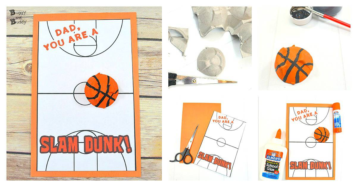 Diy Basketball Father S Day Card For Kids Using Egg Cartons Buggy