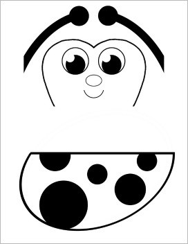 free ladybug template for paper bag puppet craft for kids