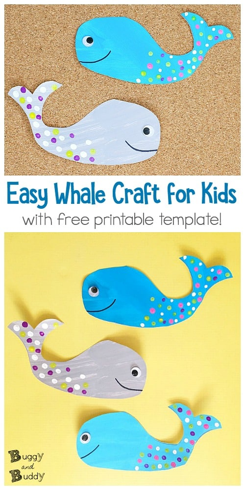 photo regarding Whale Template Printable known as Whale Craft for Young children with Totally free Printable Template - Buggy